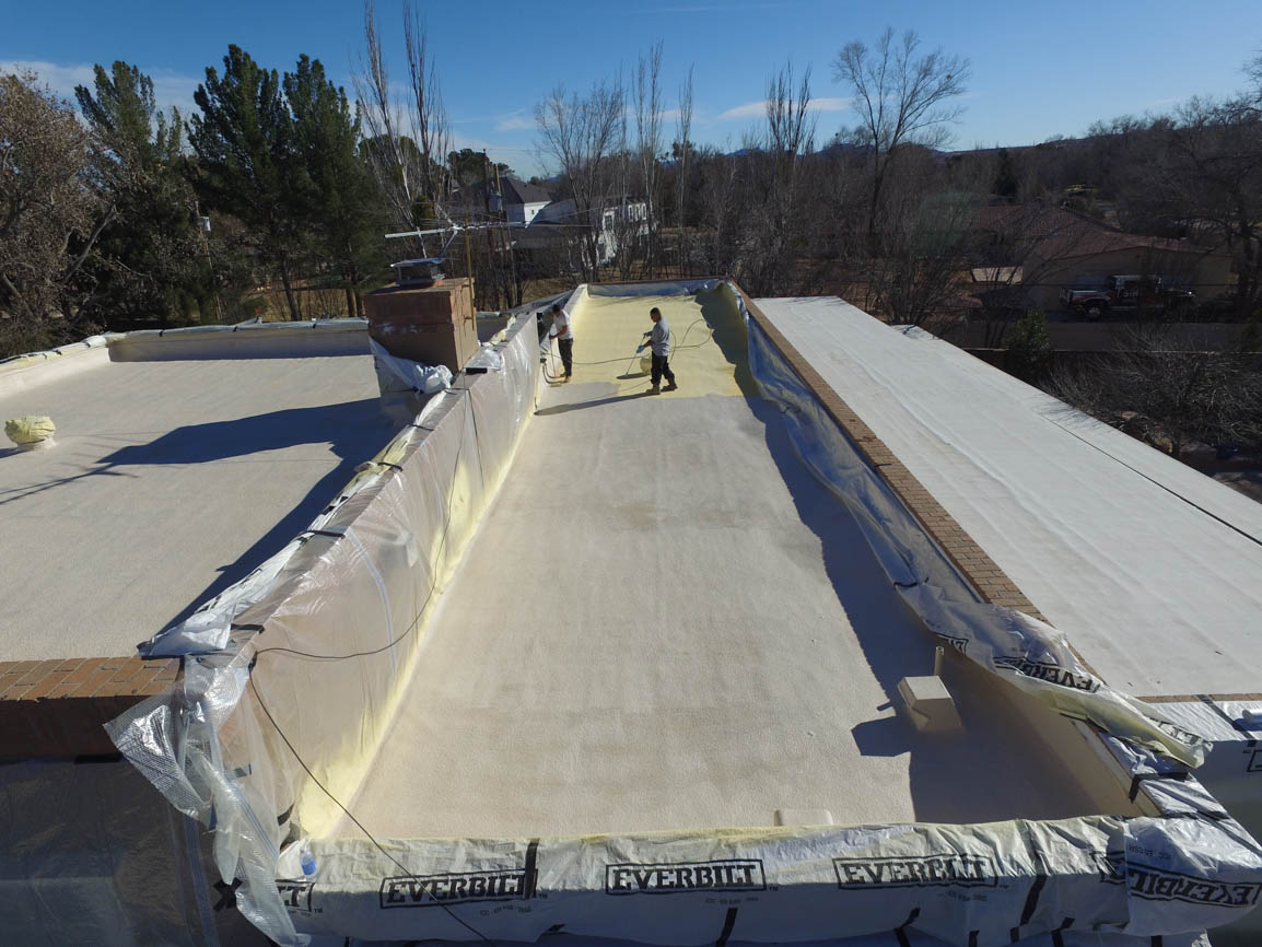 Spray Foam Roof Residential Home in El Paso